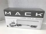 2nd GEAR 1/34 SCALE  R- MODEL MACK TRACTOR & 35' TRAILER