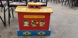 PLASTIC CLUBHOUSE CABOOSE TOY BOX