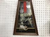MICHELOB LIGHT MIRROR BEER SIGN
