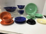 FRENCH SAXON ZEPHYR COLORED DISHES - FIESTA STYLE