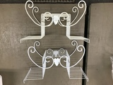 (2) VINTAGE WIRE PLANT STANDS