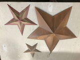 (3) BROWN & RED STARS