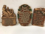 (3) VINTAGE WALL PLAQUES