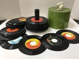 VINTAGE DISK-GO-CASE FULL OF 45 RECORDS
