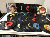 BULK LOT ASSORTED VINTAGE 45 RECORDS