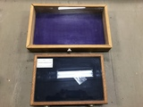 (2) TABLE TOP DISPLAY CASES