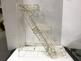 3 STEP VINTAGE WIRE PLANT STAND