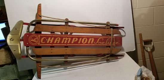 VINTAGE KALAMAZOO CHAMPION SNO-LINER SLED