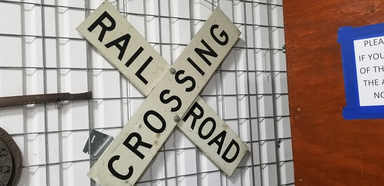 FULL SIZED RAILROAD CROSSING SIGN