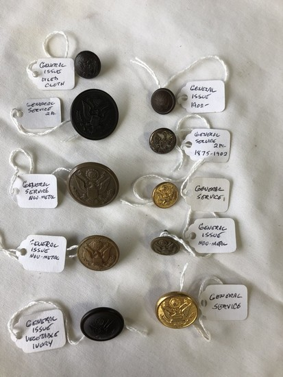 LOT of (10) 1854 General Issue Military Buttons