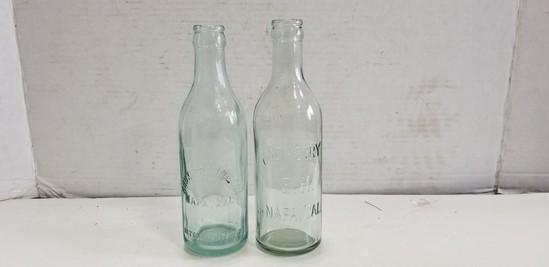 VINTAGE KNOX GRANATELLI & ED. HENRY NAPA, CAL GLASS BOTTLES