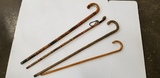 (4) ASSORTED WOODEN WALKING CANES