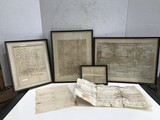 (6) ASSORTED 1800'S LAND PURCHASE CERTIFICATES & TAX PAPER