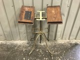 ANTIQUE HOYES CAST IRON BIBLE / BOOK STAND