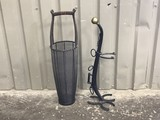 WIRE UMBRELLA STAND & WESTERN STYLE ASHTRAY STAND
