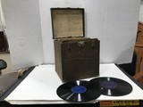 CASE OF OLD VICTROLA RECORDS