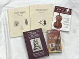 VARIETY OF VIOLIN BOOKS & VIDEO