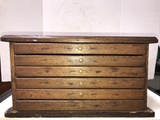 ANTIQUE 6 DRAWER SPOOL? CABINET
