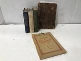 (5) ASSORTED ANTIQUE BOOKS