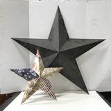 (2) DECORATIVE METAL WALL STARS