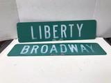 BROADWAY & LIBERTY STREET SIGNS
