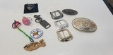 ASSORTED BELT BUCKLES / KEY CHAINS & MISC.
