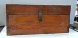 WOODEN HINGED TRUNK W/ HANDLES