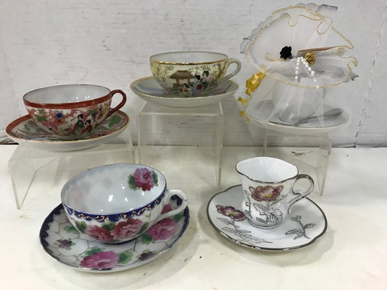 (5) ASSORTED COLLECTOR CUP & SAUCERS