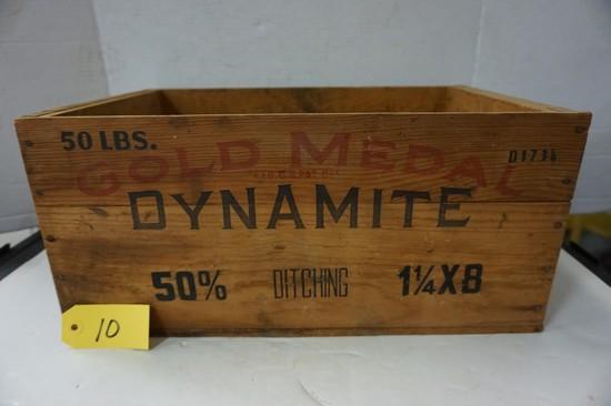 WOODEN GOLD MEDAL DYNAMITE BOX