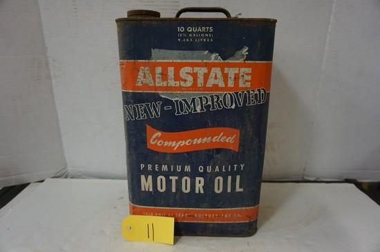10 QT.ALLSTATE MOTOR OIL CAN