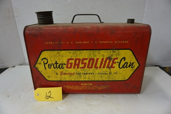 VINTAGE 2.5 GALLON PORTA GASOLINE CAN