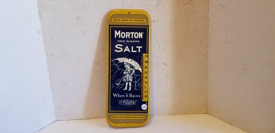 VINTAGE MORTON SALT ADVERTISING THERMOMETER