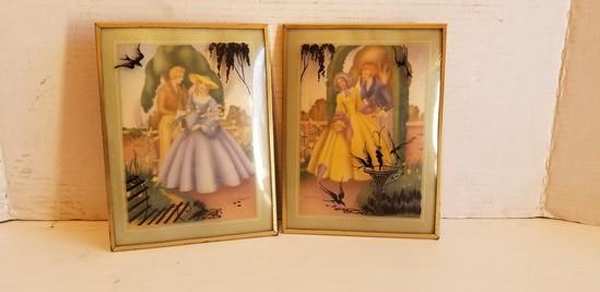 MORRIS & BENDIEN / SANDRE' CONVEX GLASS LITHO PICTURES