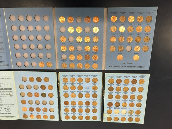(2) WHITMAN LINCOLN HEAD CENT COIN ALBUMS  W/ COINS