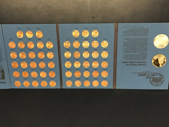 NUMISMATIC NEWS LINCOLN MEMORIAL CENT SET IN FOLDER