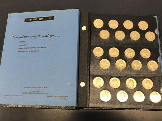 WHITMAN CLASSIC QUARTER COIN ALBUM W/ COINS
