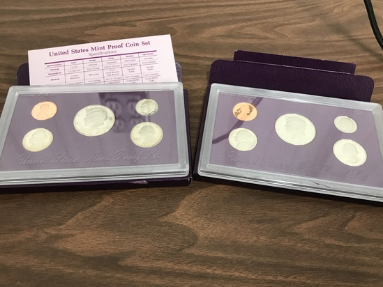 1990 & 1991 U.S. MINT PROOF SETS