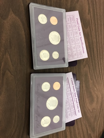 1987 & 1988 U.S PROOF SETS