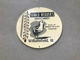 GERALD WEAVER'S HATCHERY THERMOMETER- WILLIAMSFIELD ILL.