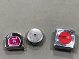(3) SMALL TAPE MEASURES