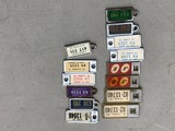(14) KEY CHAIN LICENCE PLATES - IA, IL & DISABLED VETS