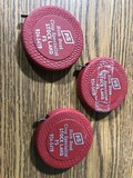 (3) STOCKLAND FS TAPE MEASURES
