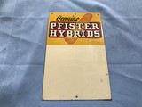PFISTER HYBRIDS TIN SIGN