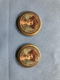 (2) CHICAGO DROVERS JOURNAL JUNIOR LEAGUE PIN BACK BUTTONS