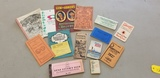 ASSORTED VINTAGE ALMANAC'S, NOTE BOOKS & OTHER PAPER ITEMS