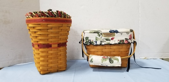 (2) LONGABERGER BASKETS