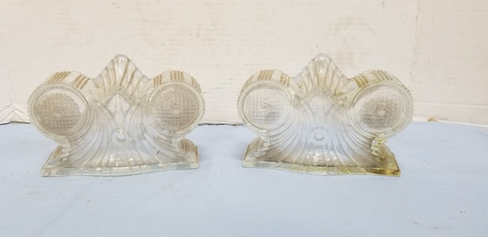 (2) ANTIQUE SCONCE LIGHT SHADES