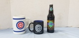 UNOPEN BOTTLE CUBBY BEAR ROOT BEER & CUB'S MUGS