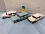 (3) HUBLEY & KORRIS KARS - PLASTIC CARS