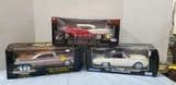 (3) AMERICAN MUSCLE,WELLY,HIGHWAY61 DIE CAST CARS